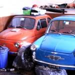 Trieste Fiat Topolino bleu et rouge