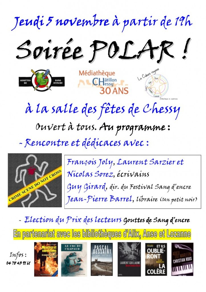 Mediatheque Chessy - affiche soiree polar